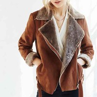 Silence + Noise Faux Shearling Aviator Jacket