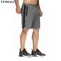 casual summer shorts men brand clothing fashion printed workout short male quality black grey