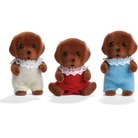 Calico Critters Chocolate Labrador Triplets