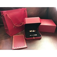 Cartier Love Bangle Size 16 18k Rose Pink Gold With 4 Diamonds