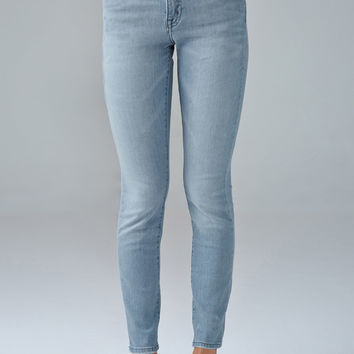 Sanded Wash Mid-Rise Skinny Jeans