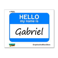 Gabriel Hello My Name Is Sticker