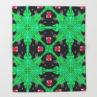 Tropical Gothic Pattern  Throw Blanket by Chobopop