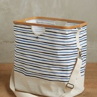 Seastriped Hamper Tote by Anthropologie in Blue Size: One Size Bath