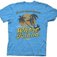 Anchorman - Whore Island Mens T-shirt in Turquoise