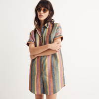 Courier Shirtdress in Rainbow Stripe : shopmadewell casual dresses | Madewell