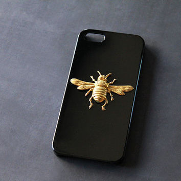 Bee iPhone 5 Case iPhone 4s Black Case Insect Galaxy S3 Case Black Galaxy S4 Case Black Gold Galaxy Case iPhone 5c Case Black
