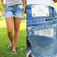 Perfect Pocket Jean Shorts by Miss Me