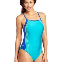 Speedo Womens Xtra Life Lycra Fashion Voyager Splice Swimsuit