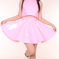 Glitters For Dinner — Made To Order - Daniela Pink PVC 2 Piece Set