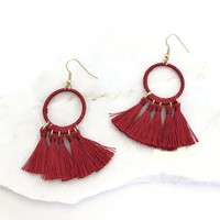 Tassel Earring in Red