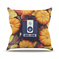 "Libertad Leal ""The Four Seasons: Fall"" Outdoor Throw Pillow"