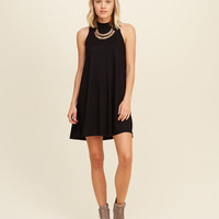 Must-Have Ribbed Mock Neck Swing Dress