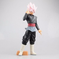 Dragon Ball Z Big Size Rose Son Goku Vegeta Fusion Action Figure DBZ Black Gogeta Son Goku Pink Hair PVC Collection