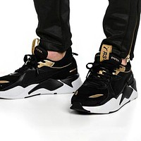 PUMA RS-X Reinvention Fashionable Women Men Casual Couple Sport Running Shoes Sneakers Black&Golden