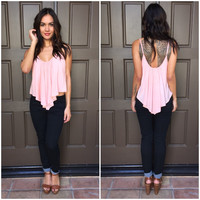 High Tide Crop Top - Blush Pink