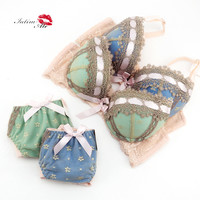 2016 sexy lingerie,bra brief sets, three-row Lace Embroidery underwear,sexy young girl bra set,france brand bra sets,Big Cup ABC
