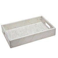 White Marble Rect Tray 16 X 12