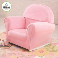 KidKraft Upholstered Rocker with Slip Cover - Pink - Free Shipping