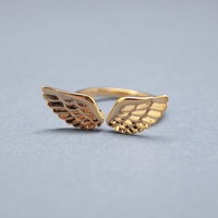 Angel Love Wing ring in gold - Adjustable Ring