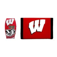 Wisconsin Badgers Lil' Sport Watch & Trifold Wallet Gift Set - Kids (Wis Team)