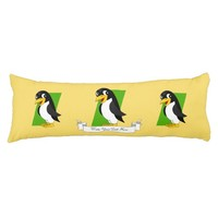 Cute penguin cartoon body pillow