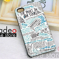 fault in our stars - for case iPhone 4/4s/5/5c/5s-Samsung Galaxy S2 i9100/S3/S4/Note 3-iPod 2/4/5-Htc one-Htc One X-BB Z10