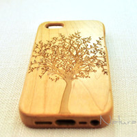 Peaceful tree Real wood iPhone 5C case,wood iPhone 5C case, wood iphone 5C case, wood iphone 5C case, wooden iPhone 5C,   Gift,Eco-fiendly
