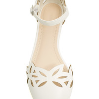 Marquise Laser Cut-Out Flats