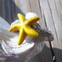Alpaca non tarnish/925 Sterling Silver Wire Yellow/Green/Red/Pink/Purple  Chaolite Star Ring Size 6
