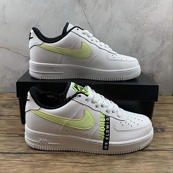 Morechoice Tuhz Nike Air Force 1 07 Lv8 Worldwide Pack Volt Sneakers Casual Skaet Shoes Ck6924-101