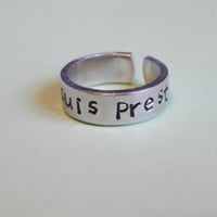 Hope - Cuff Ring - Aluminum Hand Stamped Cuff Ring - Inspirational Gift