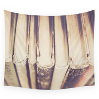Society6 Vintage Books Wall Tapestry