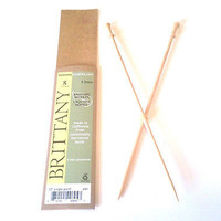 """Brittany Wood Single Point Knitting Needles 10"""" Single Point Size 8 or 5.0 mm"""