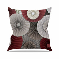 "Heidi Jennings ""Merlot"" Maroon Abstract Throw Pillow"