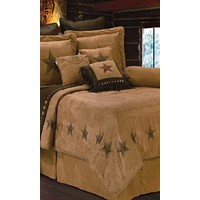 Cowgirl Kim Luxury Star Faux Suede Comforter Set