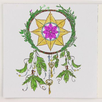 24 Pages DIY Drawing Book Mandalas Flower English Edition Coloring Book for Childs Adult Relieve Stress Time Painting