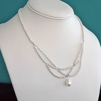 Vintage Style Pearl Necklace