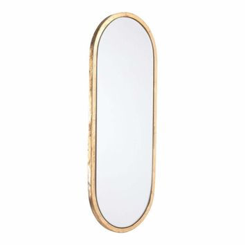 Steel Oval Mirror, In Golden