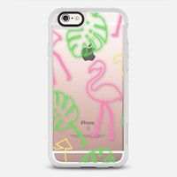Neon Sign Summer - Tropical Leaves- Flamingo- Cocktail - Transparent iPhone 6s case by Samantha Ranlet | Casetify