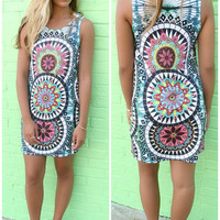 Sundial Multi Color Fitted Dress