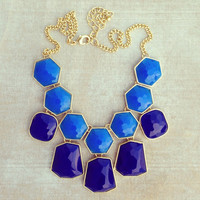 Pree Brulee - Blue Honeycomb Necklace