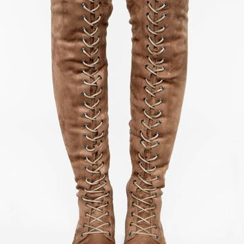 I'm Done Flat Boot - Taupe