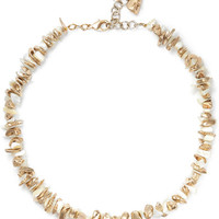 Rosantica - Gold-tone mother-of-pearl necklace