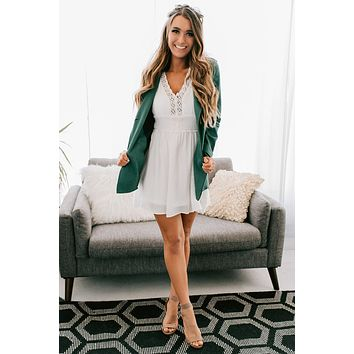 Carry My Love Faux Suede Jacket (Teal)