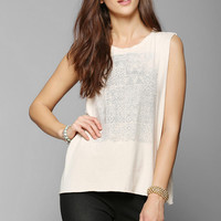 Knot Sisters Faded Stamp Muscle Tee - Urban Outfitters