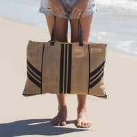 The Beach People - Jute Beach Bag | Stripe