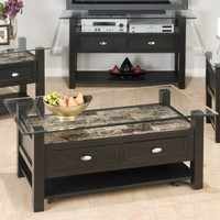 Jofran Beveled Edge Cocktail Table - 961-1G / 961-1B - Accent Tables - Decor