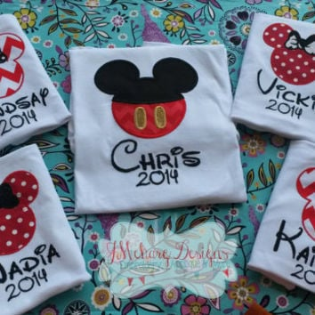 Custom embroidered Disney Vacation Shirts for the Family!