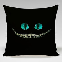alice in wonderland Square Pillow Case Custom Zippered Pillow Case one side and two side